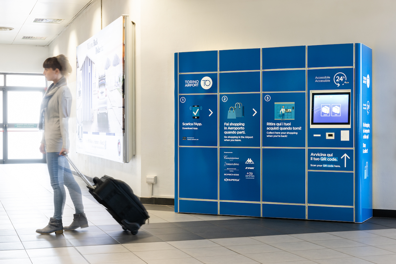 Smart Locker WIB all'aeroporto di Torino